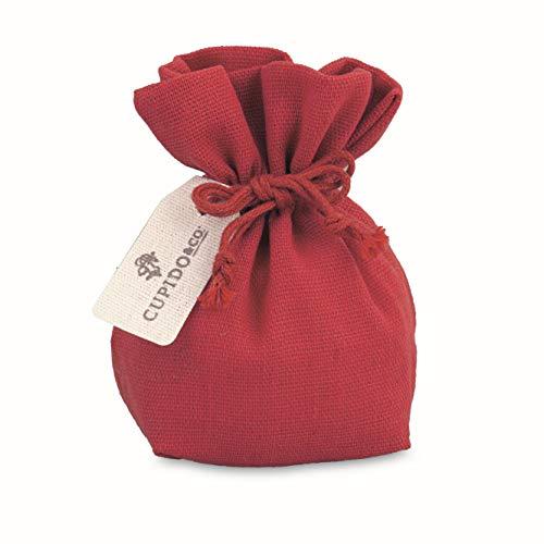 Cupido Bomboniera Sacchetto saccoccio in Tessuto Rosso Laurea Decorazione 12 pz Art 28492