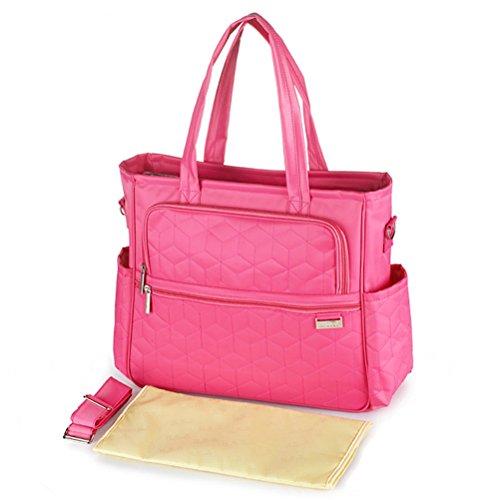 EASTVAPS Baby-Wickeltasche mit Wickelunterlage, Rosa