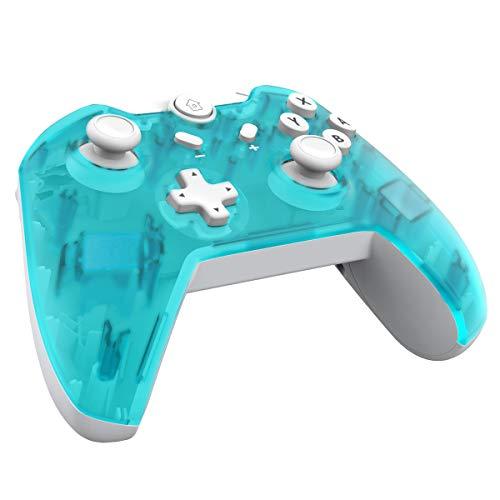 JFUNE Mando Inalámbrico para Nintendo Switch, Pro Controlador Wireless Switch Gamepad, 6-Axis Gyro Dual Motor Switch Controller- Nueva versión (Verde)