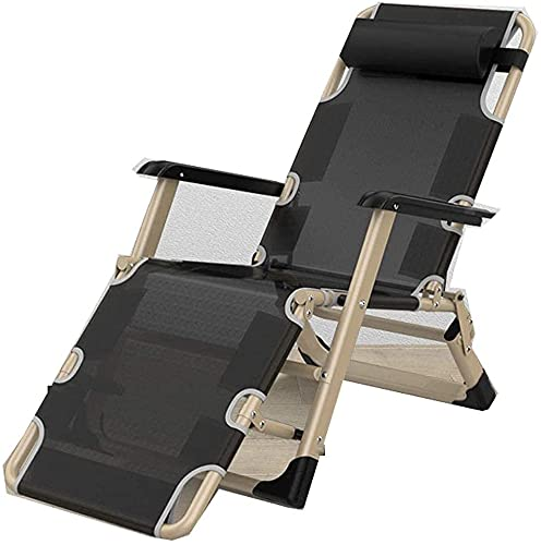Patio Lounger Silla cero gravedad reclinable silla tumbona, silla reclinable, jardín plegable al aire libre tumbona silla silla silla reclinable muebles de jardín silla plegable silla con almohada par