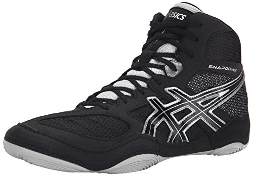 ASICS Men's Snapdown, Black/Silver, 10 M US