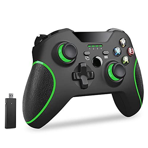 Usergaing Xbox Wireless Controller kompatibel mit Xbox One/Xbox Series X/S/Xbox One S/Xbox One X Konsole/One Elite/Windows 7/8/10/PS3 mit 2,4 GHz Wireless Adapter, ohne Audio-Buchse
