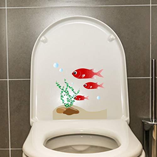 20.4 * 21.7 cm Tres peces pequeños nadando alrededor de la etiqueta de la pared Dormitorio decoración del baño aseo etiqueta