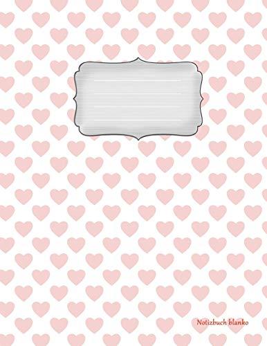 Notizbuch blanko: Girly-Design Vol.6 - A4 Format   112 Seiten   Notizbuch mit Register  ideal als Tagebuch, Skizzenbuch, Sketchbook, Zeichenbuch oder leeres Malbuch