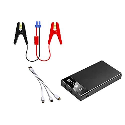 Domilay 12V 10000MAh Cargador de Arranque PortáTil Multifuncional Car Jump Starter Power Booster Cargador de BateríA Emergencia Negro
