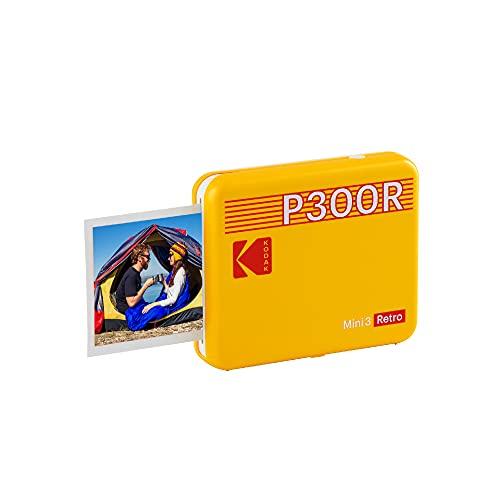 Kodak Mini 3 Retro Impresora de Fotos Portátil con Tecnología 4Pass, Foto Real:...