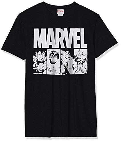 Marvel Comics Action Tegels Crew Neck T-shirt met korte mouwen voor heren