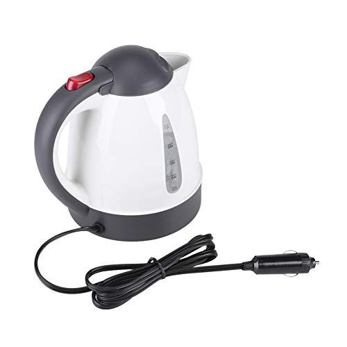 Bouilloire électrique de voiture, 1000mL 12V bouilloire de voiture Portable allume-cigare prise chauffe-eau bouteille pour thé café voyage(12V)