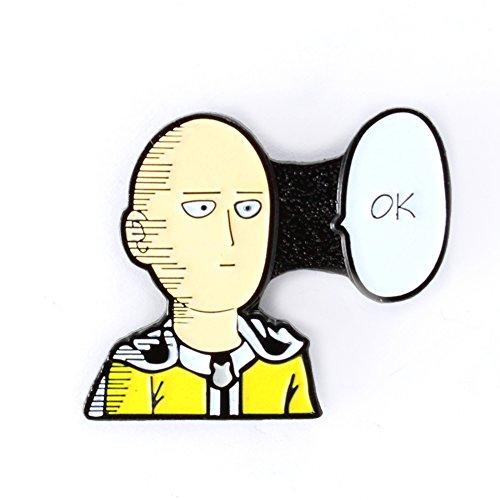 ONE Punch Man Saitama Pin Anime Series Manga Enamel Pin