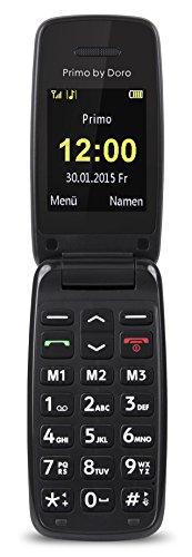 Primo 401 by Doro - GSM Mobiltelefon mit großem beleuchtetem Farbdisplay - schwarz