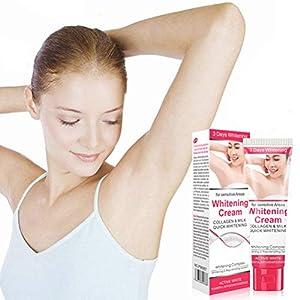 Oyria Crema blanqueadora de Axilas de 50 ml para Partes íntimas axilares Crema blanqueadora de Piel para el Cuerpo Crema blanqueadora Natural para Axilas, eficaz para aclarar y aclarar Las Axilas