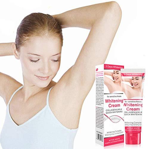 BASOYO Crema blanqueadora de Axilas de 50 ml para Partes privadas axilares, Crema blanqueadora de Piel para Mujer