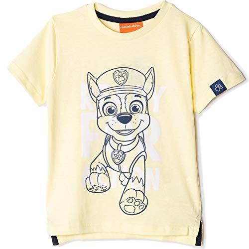 Original Paw Patrol – Nickelodeon Jungen T-Shirts Kurzarm Tops 100{b92f1c4d04fe33065f7d75f5e3716a80c935cd2c07f326d027a4c6c6f7db84a6} Baumwolle – Chase, Marshall Charaktere 2-8 Jahre Gr. 5 Jahre, gelb