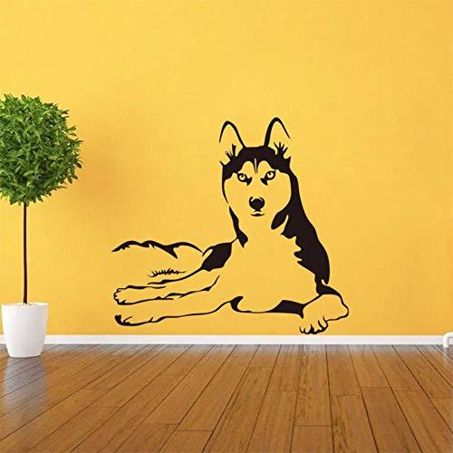 Preisvergleich Produktbild ZXFMT Wandaufkleber Nette Heisere Hundehaustiervinylwandaufkleber-Wohnzimmerwandapplikations-Abnehmbare Kunsttapetenplakatausgangsdekoration