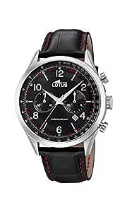 Lotus Watches Reloj Cronógrafo para Hombre de Cuarzo con Correa en Cuero 18557/4