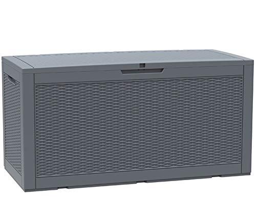 XLLLL Arcon Exterior Impermeable Caseta Depuradora Bin Shed Garden Rattan 380L /...