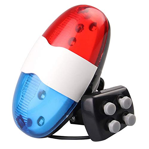 Bicycle Lights Front and Rear,Bicycle Lights,Bike 4 Tones Electronic Light Siren Cycling Safety Light Beeper Horn Bell Bike 6 Led Light Electronic Horn