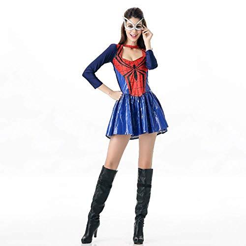 YyiHan Cosplay Disfraz, Traje del funcionamiento de la etapa del traje de heroína hombre araña del traje de Superwoman del partido del tema del juego de Cosplay del uniforme del partido del maquillaje