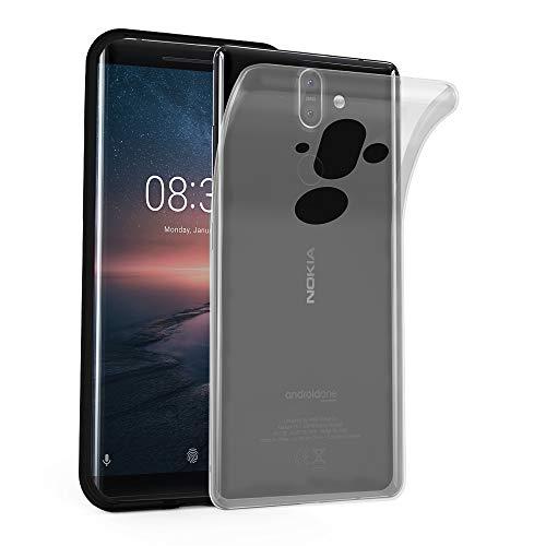 Cadorabo Hülle für Nokia 8 Sirocco in VOLL TRANSPARENT – Handyhülle aus flexiblem TPU Silikon – Silikonhülle Schutzhülle Ultra Slim Soft Back Cover Hülle Bumper