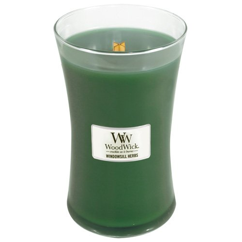 WoodWick Windowsill Herbs Pluswick Large Hourglass Candle, 22 oz.