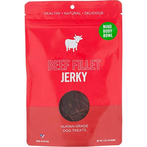 Healthy Spot / Mind Body Bowl – 3 oz Premium Smoked Beef Dog Treats – Healthy Jerky Snacks for Dogs