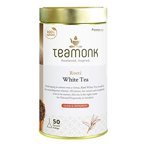 Teamonk Reeti Premium Himalayan White Tea Bags - 50 Tea Bags   100% Natural Tea   Powerful...