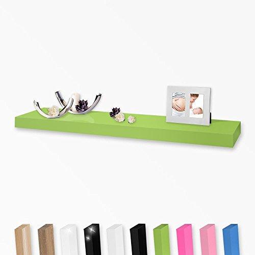 Wandboard Wandregal in vielen Farben und Größen, Farbe:Grün, Länge:108cm