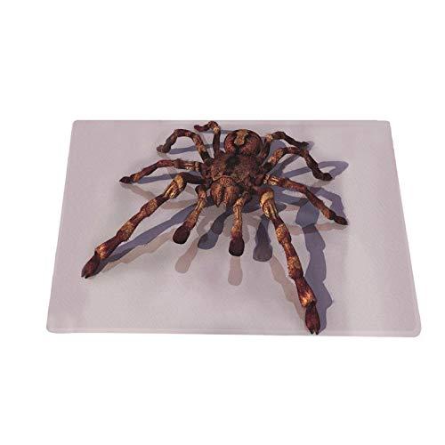 TIREOW Gruselig schreiende Halloween Fußmatte, Spinne Halluzinatorische Flanell Türmatte Handgewebter Teppich für den Außenbereich Küche 40x60 cm / 50 × 80 cm / 60 × 90 cm (M)