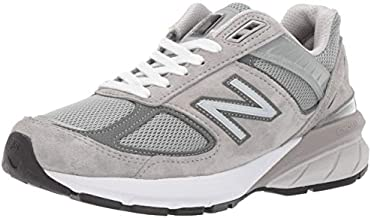 New Balance Women's Made in US 990 V5 Sneaker, Grey/Castlerock, 8 Wide