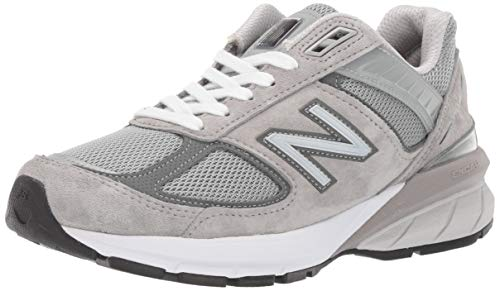 New Balance Women's Made 990 V5 Sneaker, Grey/Castlerock, 7.5 M US