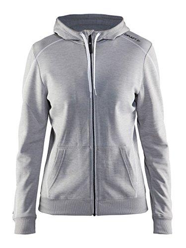 Craft Damen Hoodie IN-The-Zone Full Zip Hood W Grey XS, Grey, XS, 1904157-2950-3