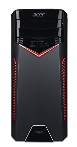Acer Aspire GX-281 Desktop Computer - AMD Ryzen 5 1600 3.20 GHz - 8 GB DDR4 SDRAM - 1 TB HDD - Windows 10 Home 64-bit