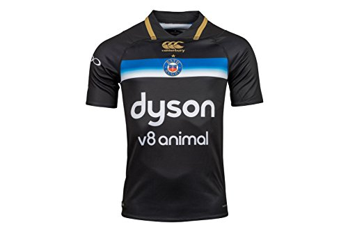 Canterbury Offizielles Badetuch Herren Rugby Vapodri Plus Short Sleeve 3. Pro Jersey XXL schwarz