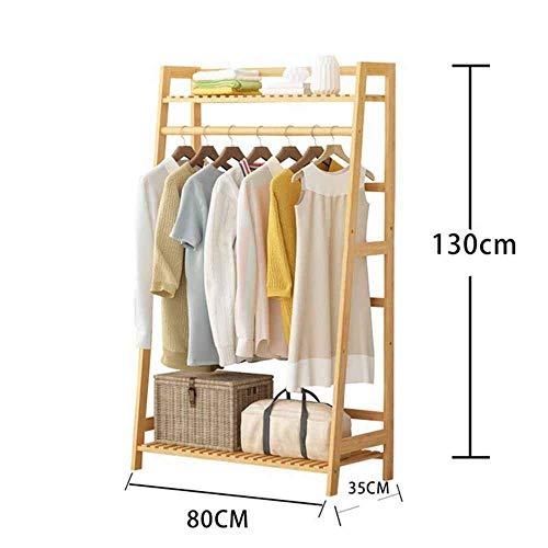 FVGH Ladder hanger Effen houten kapstok Handdoekenrek Nordic simplicity Slaapkamer woonkamer badkamer A 80 * 35 * 130cm