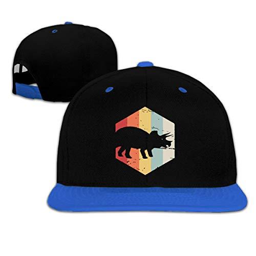 SuyuttiER Childrens Boys Girls Retro 70s Triceratops Baseball Cap Trucker Adjustable Caps Blue