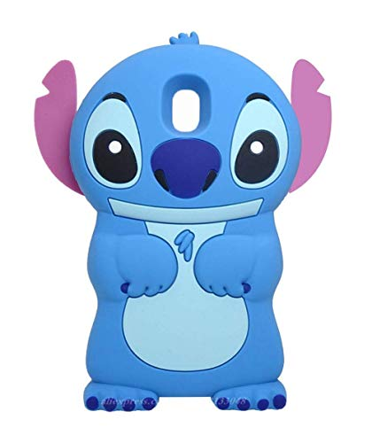 EMF Blue Alien Dog Case for Samsung Galaxy J7 V 2nd Gen/J7 Star /J7 Aero/J7 Top/J7 Crown/J7 Aura/J7 Refine/J7 Eon,3D Cartoon Animal Cute Soft Silicone Cover,Animated Cool Cases for Kids Teens Girls