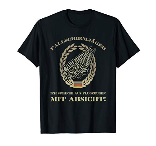 Fallschirmjäger Abzeichen Bundeswehr Soldat Adler Geschenk T-Shirt