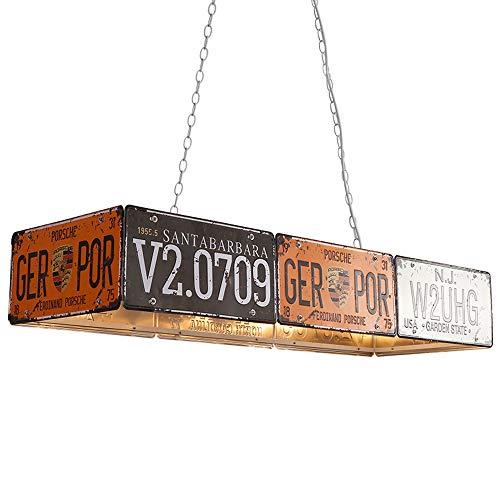 HCMNME Estilo Industrial Retro Matrícula Creativa Sombrero de Paja Decoración Lámpara Colgante Nostálgico Lámparas de Hierro Forjado Restaurante Bar Bar Mostrador Cafe (Style A)