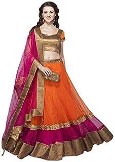 6f41900ebb5233 Payal Fashion Women's Semi-stitched Lehenga Choli in Net Fabric with Blouse  and Dupatta (