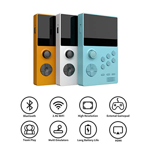 nobrand Handheld Retro Gaming System(4xCortex-A7/1.3G.Can Run 3D Games)/Dual Boot Open Android+Carrying Case/Android App(Google Play Store&Video/Music Player...)/HDMI Output for TV(Blue 32GB Version)