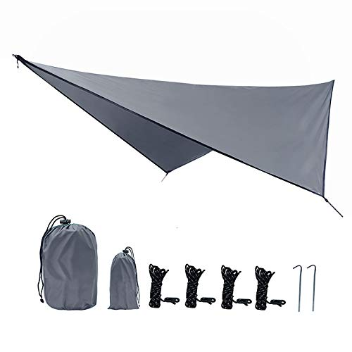 "BlueDorado Hammock Tarp Tent 142""X114"", Hammock Rain Fly Camping Tarp, Multifunctional Waterproof Tent Footprint for Camping, Sunshade, Picnic & Army Tent"