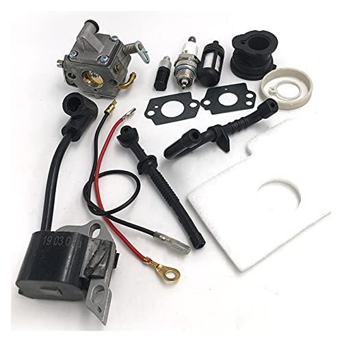wuxinye Kit de la ingesta de la ingesta de encendido de la bujía de encendido del carburador Kit de colector de la ingesta de encendido para Stihl MS170 MS180 170 180 Piezas de motosierra 1130 120 060