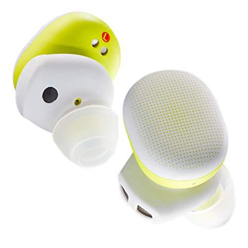 Amazfit PowerBuds Auriculares deportivos inalámbricos con monitorización de la frecuencia cardíaca durante ejercicio, Ganchos de oreja magnéticos y sonido superior Bluetooth 5.2 con micrófono Amarillo