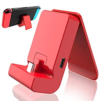 Charging Dock for Nintendo Switch and for Nintendo Switch Lite,Portable Stable Adjustable Charging Stand for Nintendo Switch,with USB Type C Charger Port  Red