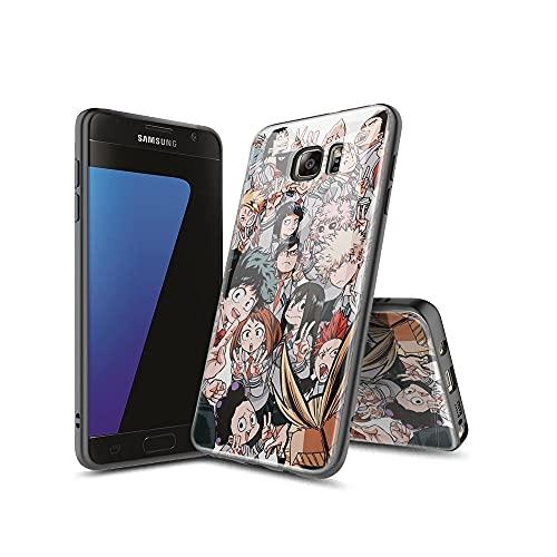 XINlOFNhE Compatible con Samsung Galaxy S7 Edge Funda diseño de patrón, Parte...