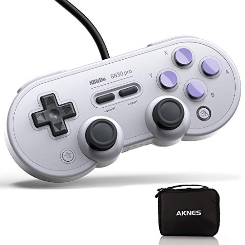 USB Game Controller for PC, 8Bitdo SN30 Pro Wired Controller / Gamepad for Raspberry Pi, Laptop and Nintendo Switch - (SN Edition)