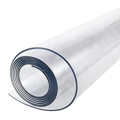 Anladia Mantel Transparente de PVC Plástico Grueso 2mm Impermeable para Mesa Cocina (200x100cm)