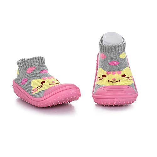 KICS cool slippers KIDS SHOE SIZE 11-12 13-1 2-3 PINK RUBBER B NON SKID COMFY