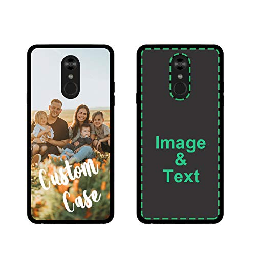 Custom Phone Case for LG Stylo 6 Personalized Photo Phone Cases Customized Gift for Birthday Xmas Valentines Friends Her Him, Uartify Protective LG Stylo 6 Black Case