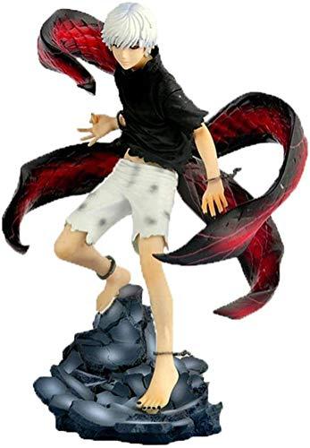 SUGARHOST Anime Figur Action Charakter Modell-Tokyo Ghoul Kaneki Ken, Sammler Souvenir Puppe Home Car Statue Handgemachte Dekoration Geschenk für Kinder Teenager Anime Fans, 22.5cm